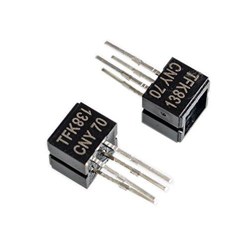 Mayata 100pcs CNY70 tfk138 Reflective Optical Sensor with Transistor Output DIP-4.