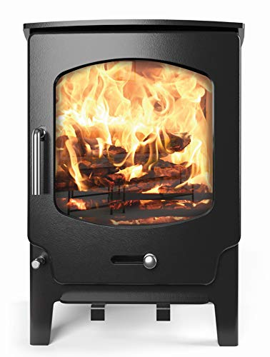 Saltfire ST-X5 Multifuel Woodburning Stove 5kW DEFRA Approved EcoDesign Clean Burn High Efficiency...