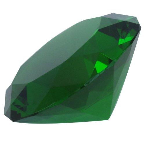 Giant Green Cut Glass Diamond-shaped Crystal