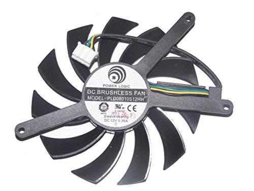 PLD08010S12HH 12V 0,35A GTX4602Win GTX 560Ti 4Cable Vídeo Ventilador