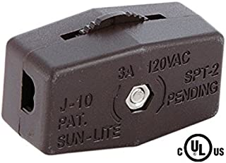 B&P Lamp Brown Inline Rotary Cord Switch For 18/2 Spt-2 Lamp Cord