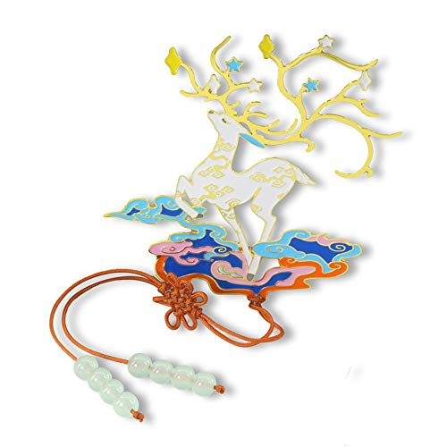 CJSWT Oriental Metallo Artigianato Scava Fuori Deer segnalibri, Uomo di Lettura Mark Libro di Donne Clip, Regali di Compleanno Opera