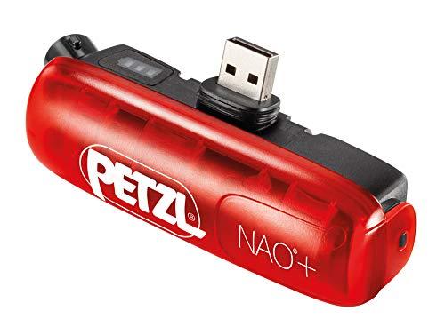 PETZL PT-E362002B Nao+ -Accesorios iluminación-Rojo/Negro 2016, Unisex Adulto, Black, Small