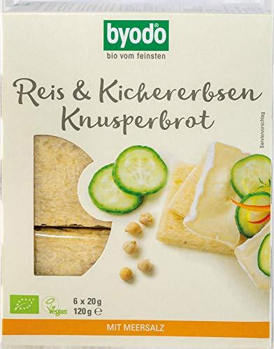 Byodo Bio Reis & Kichererbsen Knusperbrot (6 x 120 gr)