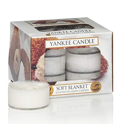 Yankee Candle Soft Blanket Teelichter, Kerzenwachs, weiß, 1er Pack
