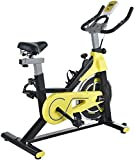 HAOSHUAI Bicicleta estática de inicio, para interior o aeróbic, para ejercicios de peso/pedal, soporte para bicicleta, manillar ajustable y base