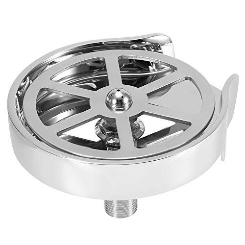 Junluck Jarra Rinser, G1/2 pulgadas de acero inoxidable automático de enjuague de cristal para el hogar, bar, cafetería, uso en tienda, con cabezal de limpieza de salida de agua multiángulo