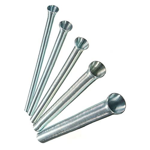 "NERR YULUBAIHUO 5pcs (21 cm) Tube de Tube de Flexion de Ressort Bender 1/4""5/16"" 3/8""1/8"" 1/2""5/8"" Silver Set"