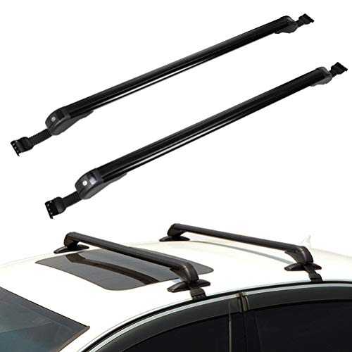 ECCPP 43.3' Roof Rack Crossbars Compatible with Chevrolet Avalanche 2007-2013,for Chevrolet Cruze 2011-2016 Cargo Racks Rooftop Luggage Canoe Kayak Carrier - Max Load 154LBS Kayak Rack Accessories