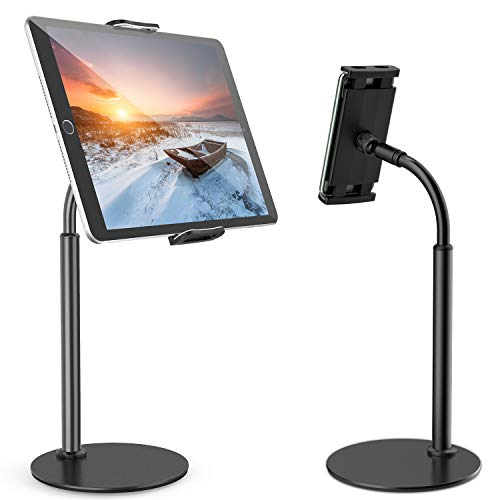 Tryone Tablet Stand, Gooseneck Tablet holder, 360 Degree Rotating Phone Holder Desk Stand, Flexible Desktop Tablet Stand for iPad, iPhone, Switch, Samsung Tab, 4.7-11' Devices and All Smartphones