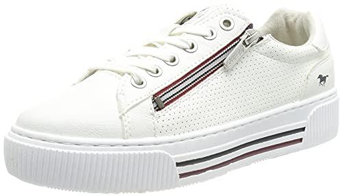 MUSTANG Damen 1386-301 Sneaker, Weiß, 37 EU