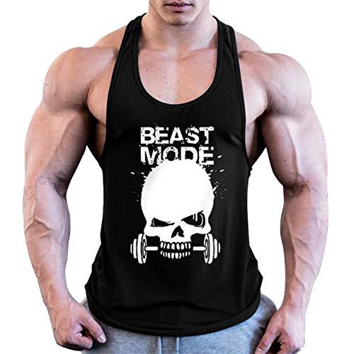 HOTCAT Homme Musculation Débardeur sans Manche Maillot de Corps Tank Top Stretch Fitness Gym Stringer T-Shirt sans Manches