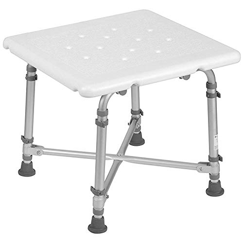 HealthSmart Germ-Free Heavy-Duty Medical Bariatric Bath Seat Shower Chair Bench Stool, Supports up to 500 Pounds, White