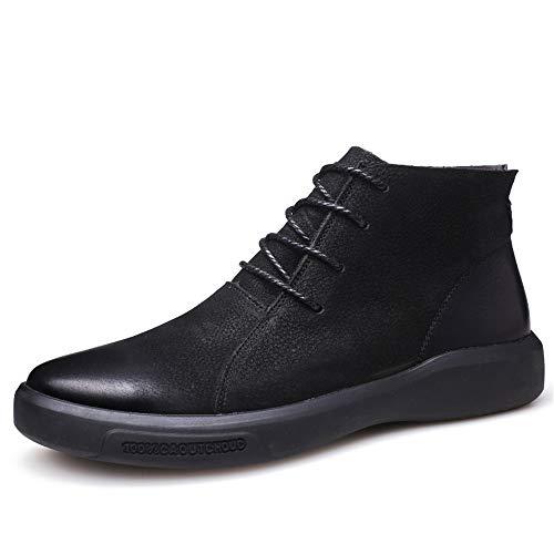 JDDRCASE mannen enkellaarzen casual jeugd klassieke Britse stijl hoge top platte hak vrije tijd schoenen