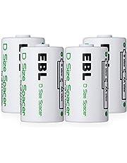 EBL 電池スペーサー (単1タイプ4コ入り)電池変換アダプター 単3→単1変換 単3形充電池用 サイズ変換スペーサー