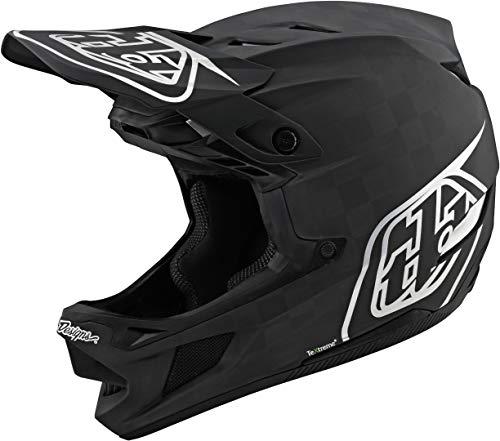 Troy Lee Designs Adult | BMX | Downhill | Mountain Bike | Full Face D4 Carbon MIPS Stealth Helmet (Medium, Black/Silver)