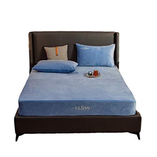 CHICTI Protector de colchón transpirable, a prueba de polvo, transpirable, ultrasoft, silencioso, lavable, transpirable, fácil de limpiar, dormitorio (color: azul de moda, tamaño: 180 x 220 + 30 cm)