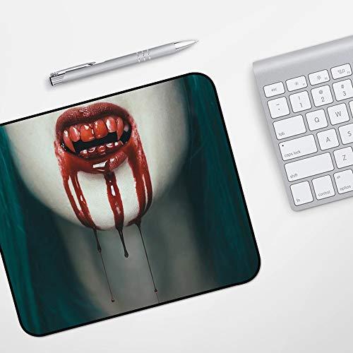 para Ratón con Cable o Inalámbrico,Vampiro, mujer vampiro aterrador realista Sangre en...