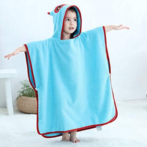 GLokpp zoekeI capuchon strandhanddoeken voor kinderen peuters jongens meisjes 1 tot 6 jaar oud, zachte watten sneldrogende poncho badhanddoek voor zwembaden (kleur: H, maat: 90-120cm)