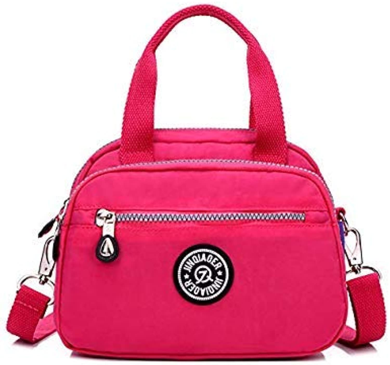 Bloomerang Fashion Women's Waterproof Nylon Shoulder Bag Casual Women Handbag Tote Bag Crossbody Ladies Travel Messenger Bag Bolsa Feminina color Hot Pink