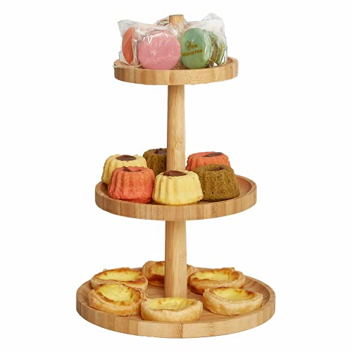 wooden tiered cupcake stand - 4