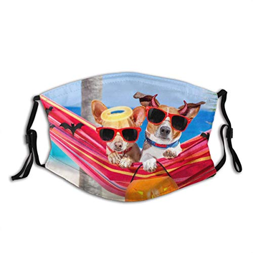 Face Cover Dogs On Hammock On Halloween Unisex Adult Washable Breathable Face mouth Cover Reusable Wind proof for Outdoor Activities Mask for Teen Men Women