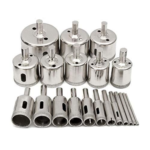 Cortadores de agujeros de sierra 20pcs de perforación de diamante recubierto Set...