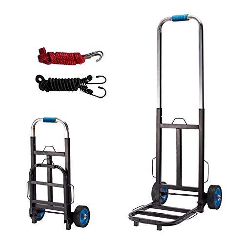 NZBⓇ Hochleistungsaluminiumklapphandsack-LKW-Karren-Wagen-Laufkatzen-industrielles Lager, welches die Waren befördert, die den Anhänger tragen, die Waren ziehen und nach Oben gehen