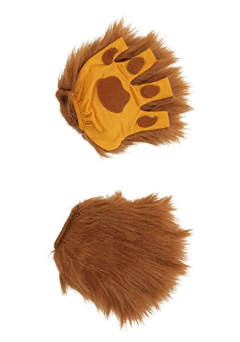 elope Lion Brown Fingerless Costume Paws