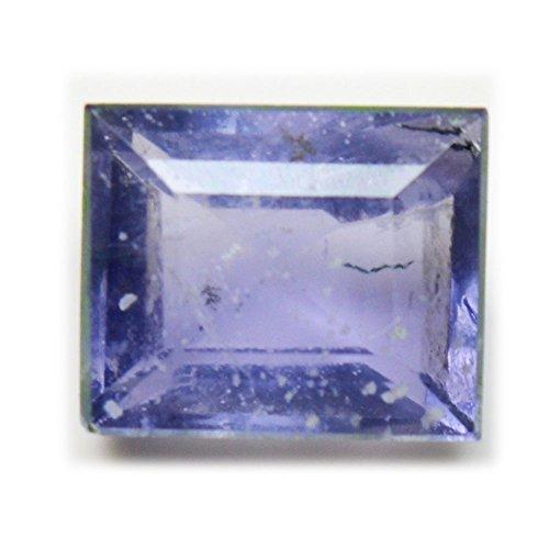 55Carat Iolite Naturales Sueltos facetas de Gemstone 2.3CT Forma Cuadrada Chakra Curación (Precio al por Mayor AAA +
