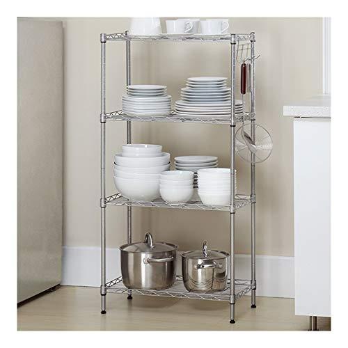 LCHY TB opslag voor keuken, boekenkast, draagbaar, rek voor magnetron, multifunctioneel rek met 4 planken, zwart