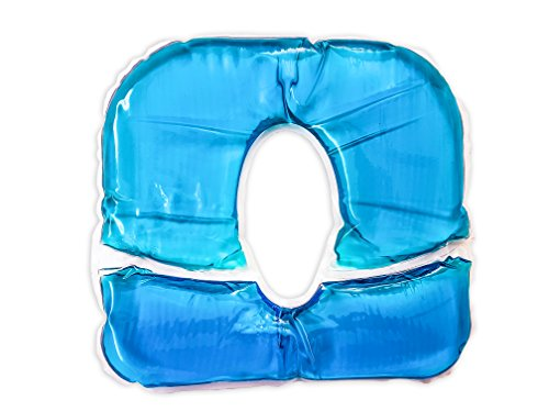 Gelkissen Pro für Kopfstützen, blau - Gesichtskissen-Auflage für Kopfstützen und Nasenschlitze