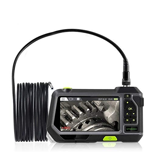 Cámara de inspección endoscopio industrial 7.6MM boroscopio 4 luces LED con pantalla de pantalla de 5 pulgadas HD 1080P 32 GB tarjeta 3500mAh