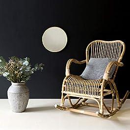 DECOCLICO Rocking Chair en rotin Naturel Moka