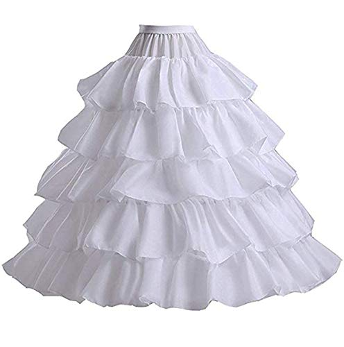 Ieuan Full White Ball Gown 4 Hoops Wedding Accessories Petticoat Underskirt Slips Quinceanera Gown for Wedding Dress