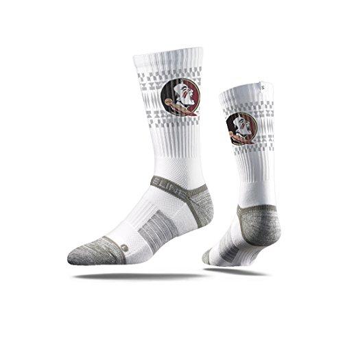 Strideline NCAA Premium Athletic Crew Socken, Unisex - Erwachsene, Noles White, Crew