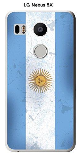 Onozo Carcasa Bandera Argentina Vintage para LG Google Nexus 5 X