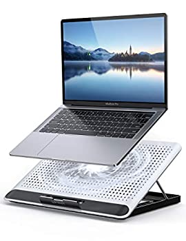 """Laptop Cooler Lamicall Laptop Cooling Pad   Portable Height Adjustable Laptop Cooling Fan Stand Holder Riser Compatible with MacBook Air Pro Dell XPS HP Alienware Laptop Notebooks Up to 17"""" - Silver"""