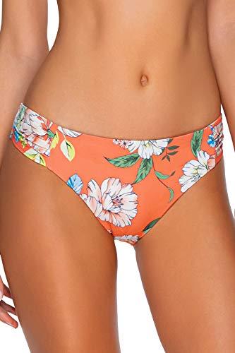 Sunsets Women's Femme Fatal Shirred Side Bikini Bottom Swimsuit, Sweet Escape, Large