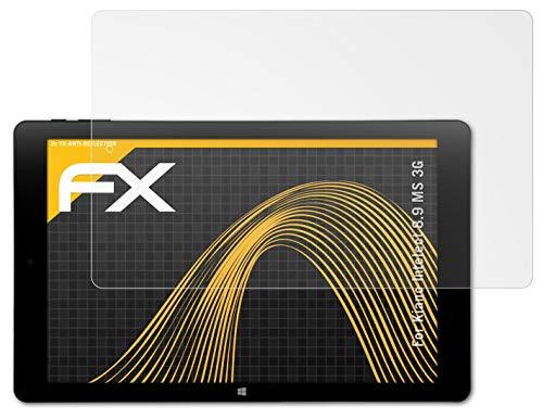 atFolix Panzerfolie kompatibel mit Kiano Intelect 8.9 MS 3G Schutzfolie, entspiegelnde & stoßdämpfende FX Folie (2X)