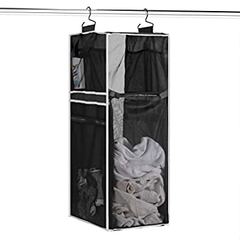 Space Saving Hanging Laundry Hamper [70L Load Capacity] - Free Up Floor Space Breathable Mesh Hanging Laundry Bag & Side Pockets Carrying Handles Zippered Front for Easy Unloading Ideal for Dorms