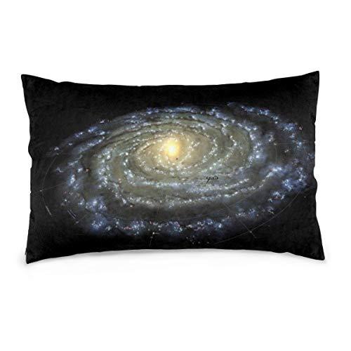 XIEXING Pillow Case Milky-Way Fundas de Almohada Impresas Asiento de Silla Suave Ropa de Cama Funda de Almohada Cafetería Decoración para el hogar