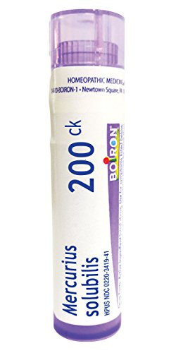 Boiron Mercurius Solubilis 200CK, 80 Pellets, Homeopathic Medicine Sore Throat