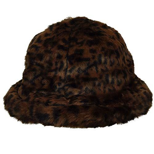 Kangol Herren Faux FUR Casual Bucket HAT Fischerhut, Leopard, X-Large