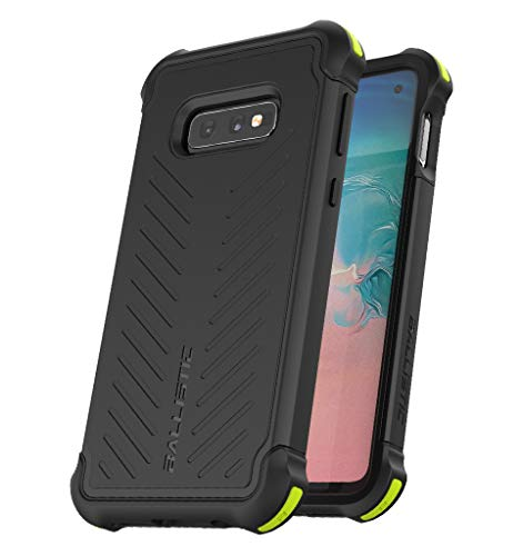 BALLISTIC Tough Jacket Series Heavy Duty Shockproof Case for Galaxy S10e, 5.8 inches, with Two Layer Protection-Black