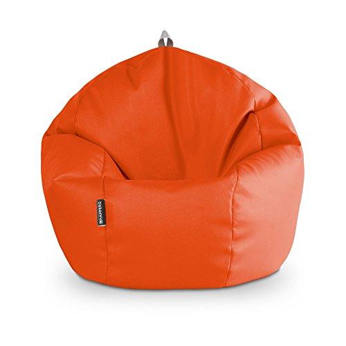 HAPPERS Puff Pelota 60cm diámetro Naranja