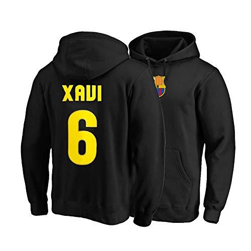 XH Herren Damen Hoodie Xavier Hernandez Creus # 6 Trikots Kapuzenpullover Loses Fußball-Sweatshirt S-XXXL (Color : D, Size : Large)