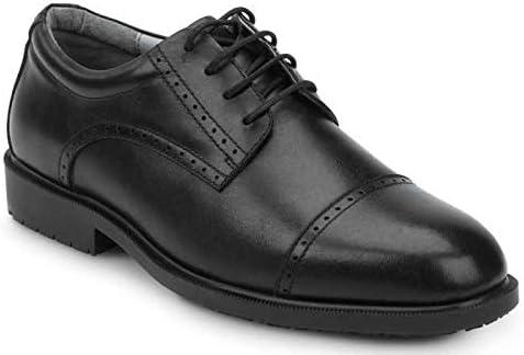 SR Max Augusta, Men's, Black, Dress Style Soft Toe Slip Resistant Work Shoe