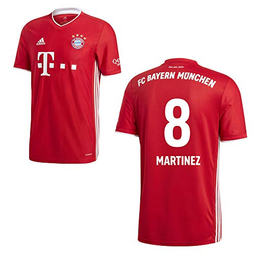 adidas FCB FC Bayern München Trikot Home Heimtrikot 2020 2021 Herren Martínez 8 Gr S