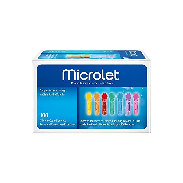 buy Microlet Colored Lancets 100 Each (Pack of 2) Diabetes Care